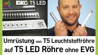 Umrüstung von T5 auf LED Röhre ohne Vorschaltgerät in 4 Schritten