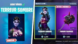 "NEW SKIN ""DARK TERROR""! (FORTNITE BOUTIQUE 5 OCTOBER 2018)"