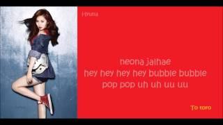 Hyuna- Bubble Pop♥ Color_coded_lyrics