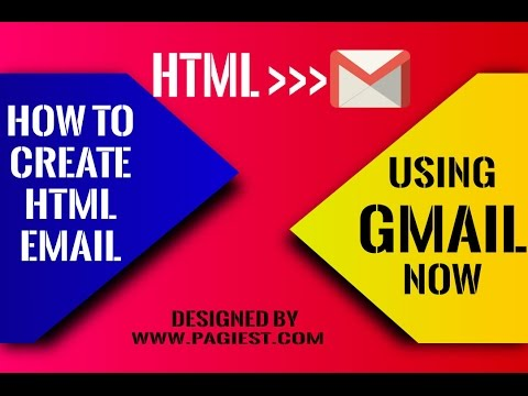 How To Create An HTML Email In Gmail, HTML TO GMAIL