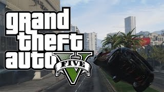 COME VOLARE CON LE AUTO! - GTA 5 Funny Moments w/ Clair & Jeybi