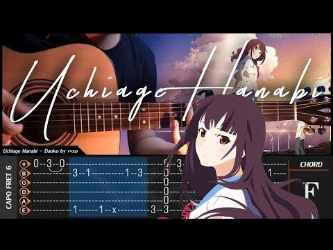 Uchiage Hanabi - DAOKO - Cover (Fingerstyle Cover) + TAB Tutorial & Chord (Lesson)
