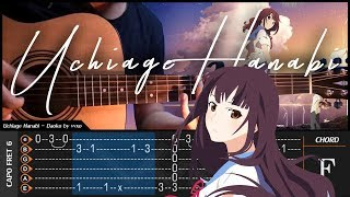 Uchiage Hanabi - DAOKO - Cover (Fingerstyle Cover) + TAB Tutorial & Chord (Lesson)