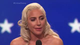 Lady Gaga's emotional acceptance speech for her win for Best Actress at The Critics Choice Awards