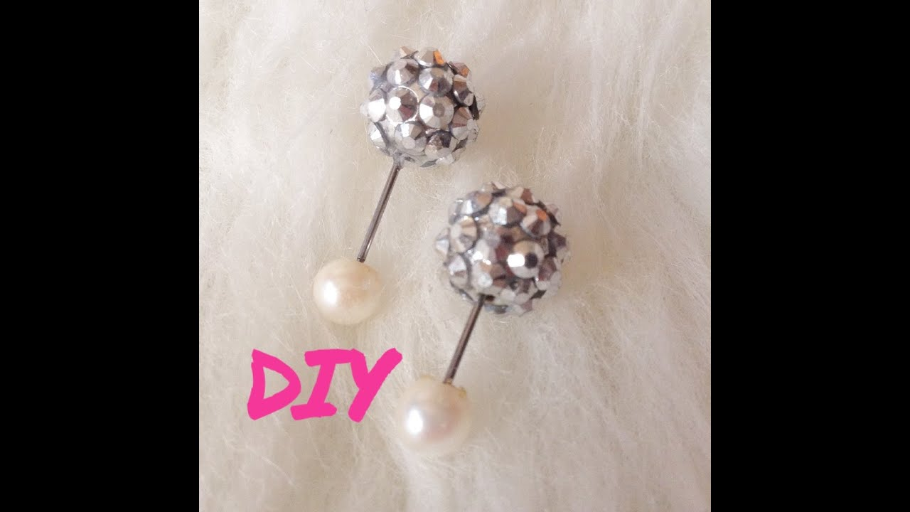 How To Make Front Back Earrings