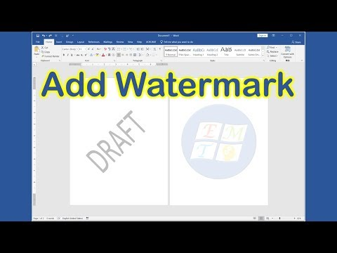 How to add watermark in word 2019