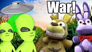 FNAF Plush Episode 135 - War with The Aliens!!
