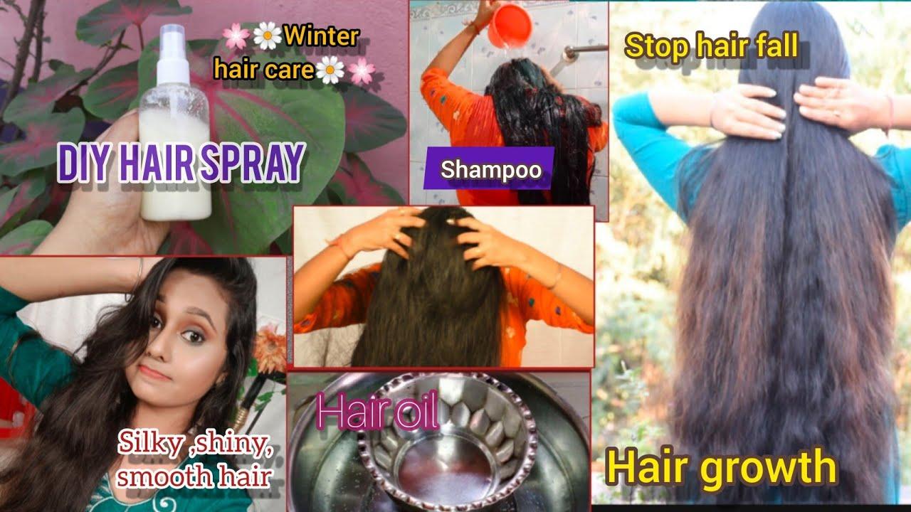 Winter Hair Care Routine No Dandruff No Hair Fall Hair Care Naturally Bengali Youtube