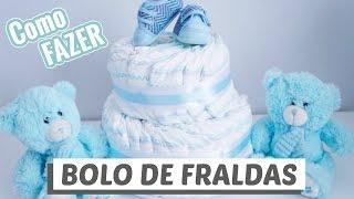BOLO DE FRALDAS PARA CHÁ DE BEBÊ -  DIY - (Bolos de fraldas #1) | GEMELARES