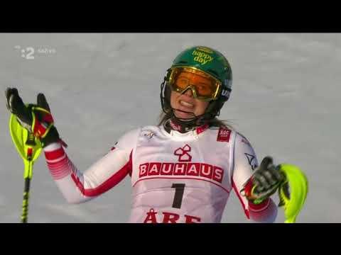 Mikaela Shiffrin world champion Slalom ARE 2019 Vlhova 3 2 round slalom ARE 2019 woman