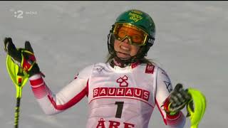 Mikaela Shiffrin world champion Slalom ARE 2019 Vlhova 3 2 round slalom ARE 2019 woman