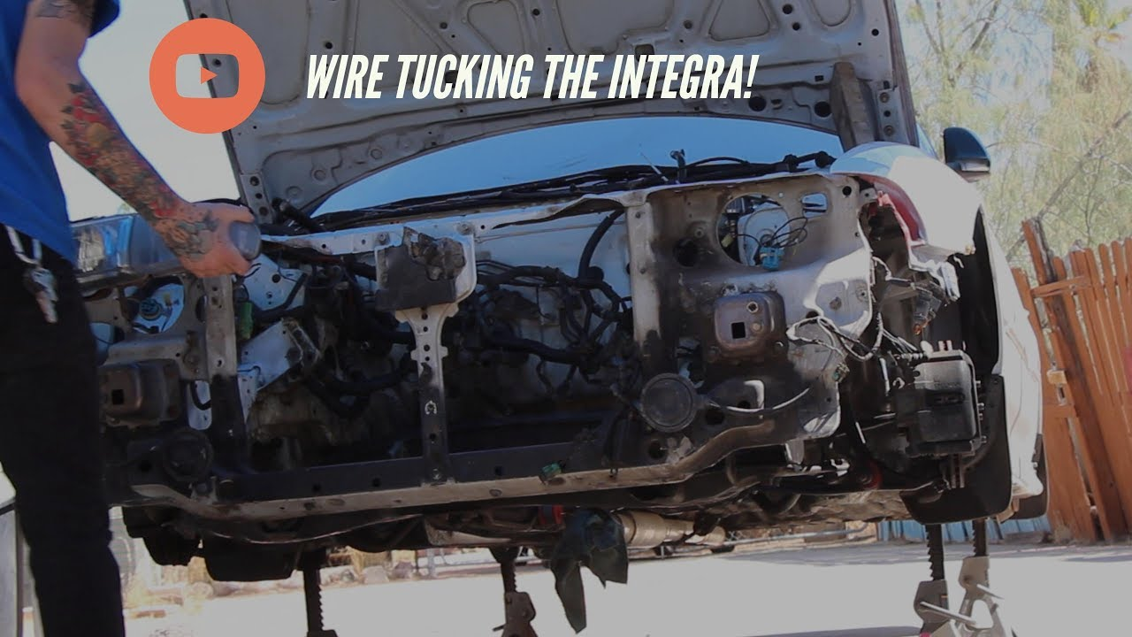 Wire Tucking The Integra! - YouTube