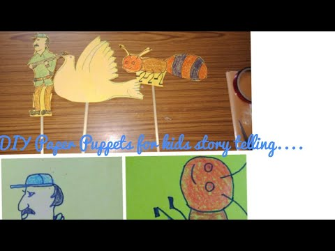#DIY Paper Pupetts model for kids story Telling# #kids Activity# #summer Vacation activity for kids