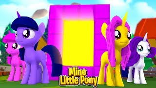Mine Little Pony: MAKING A PORTAL TO EQUESTRIA! w/Little Carly (Minecraft Roleplay).