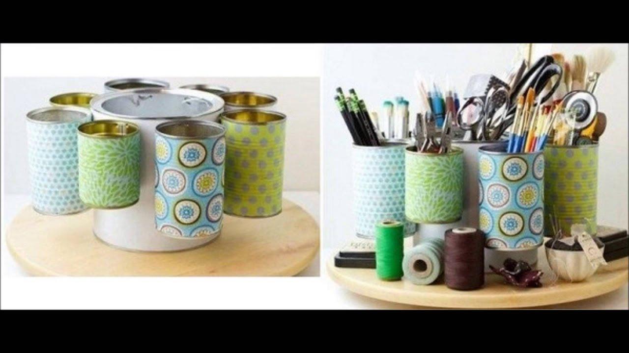 reciclaje de latas  ideas para reciclar latas  YouTube