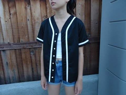 DIY: Baseball Jersey from scratch - YouTube