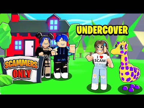 We Found A SCAMMERS ONLY Server... We Went Undercover! (Roblox Adopt Me)