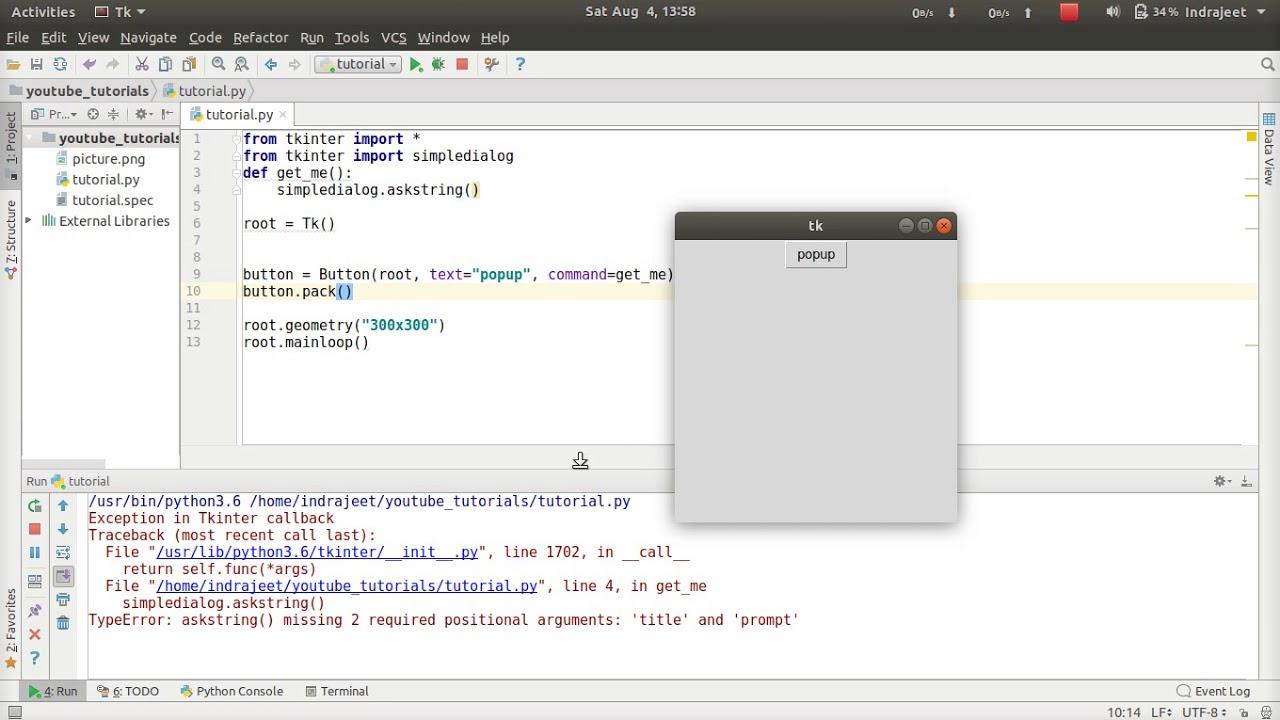 Python GUI Tutorial - 36 - input through popup window
