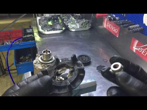 Skoda Octavia / Volkswagen Golf / Audi A1/A3/Q3. Замена подшипника и муфты компрессора кондиционера.