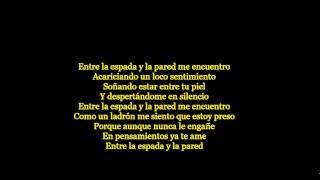 Nino Zegarra - Entre La Espada Y La Pared - Letra