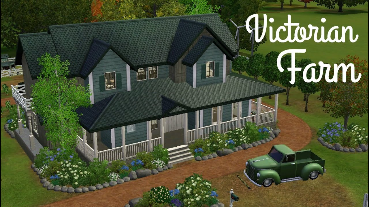 Small Ranch Style Home Plans Sims 3 House Building Victorian Farm Youtube