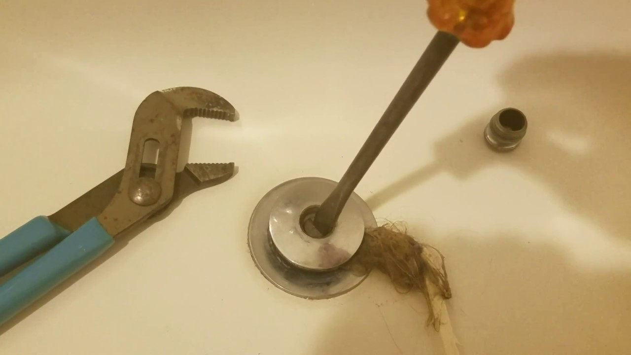 How remove Moen Tub Stopper and unclog tub drain - YouTube