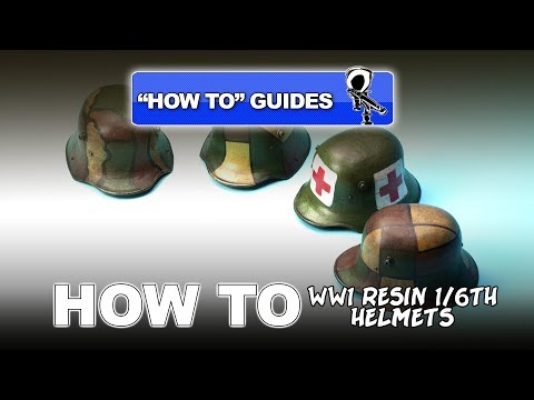"""PAINTING WW1 RESIN HELMETS (1/6TH SCALE) - """"HOW TO"""" GUIDE #1"""