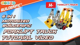 Builderific™ HOW TO - Motorized Forklift Truck Tutorial Video | RED BOX TOY