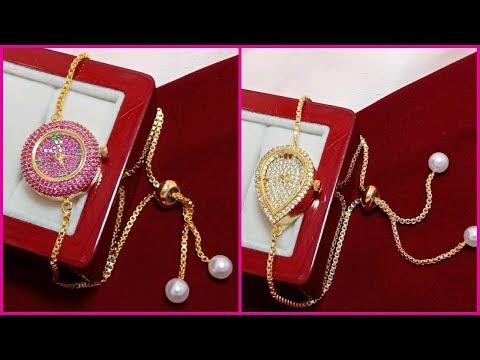 1 Gram Gold Cz American Diamond Watches Buy Online    Watches Online