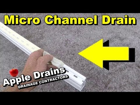 Pool Deck Drain, Micro Channel Drain, How to Clean - YouTube