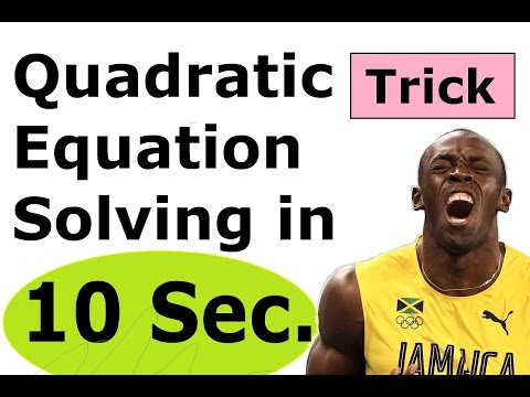Solving Quadratic Equation Trick Shortcut Factorising Factoring Easy Way