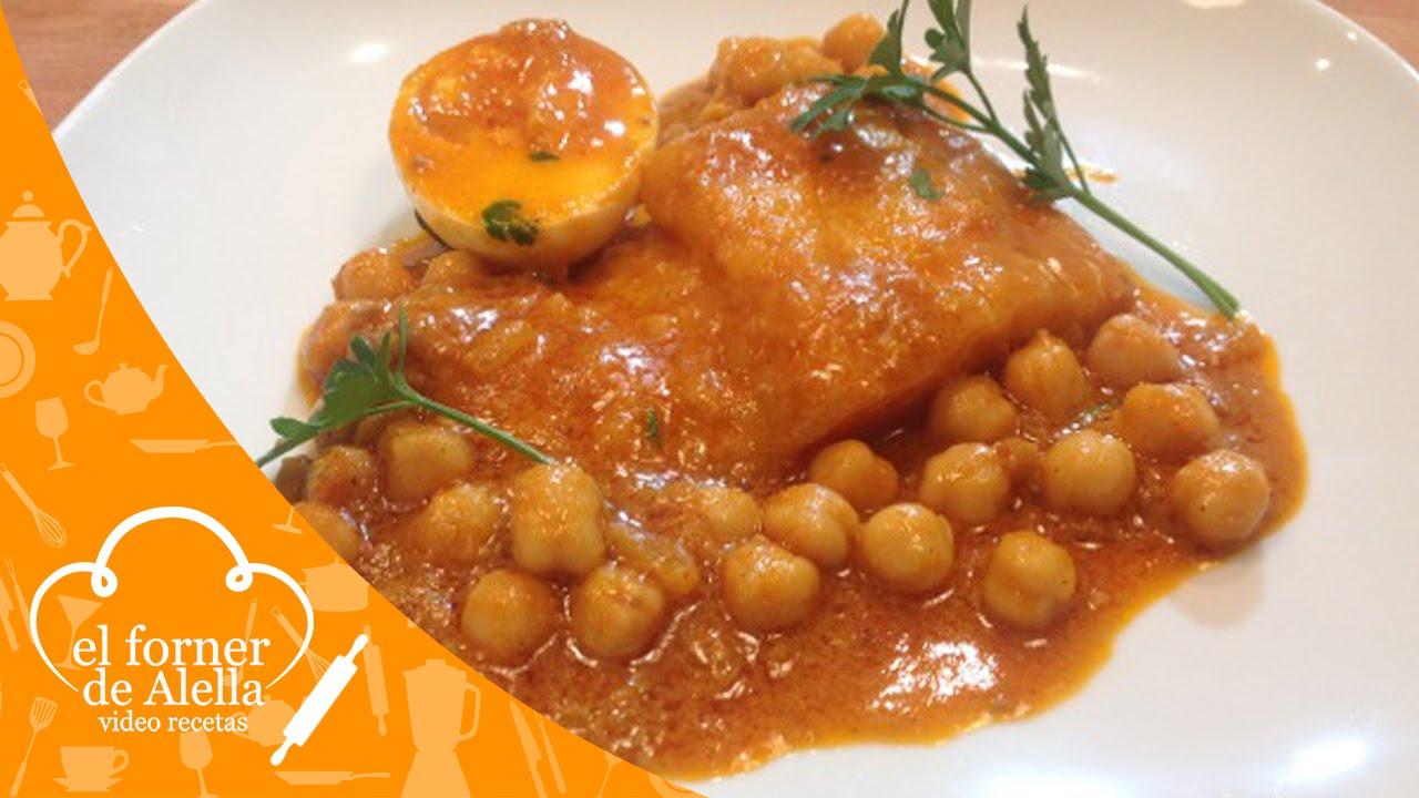 Bacalao con garbanzos y salsa romesco youtube - Bacalao con garbanzos y patatas ...