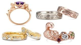 Свадебные и обручальные кольца в стиле Принцесс Диснея и героев. Wedding and engagement rings