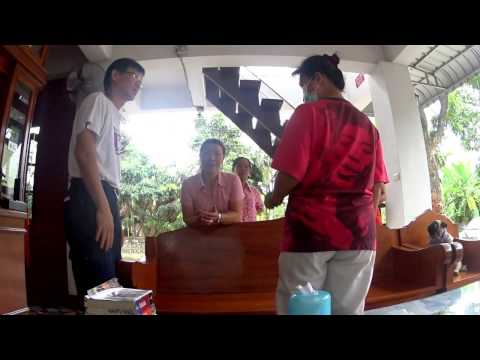 Giving Thai Instant healing massage to relieve neck, wrist, knee pain in Chiangrai, Thailand