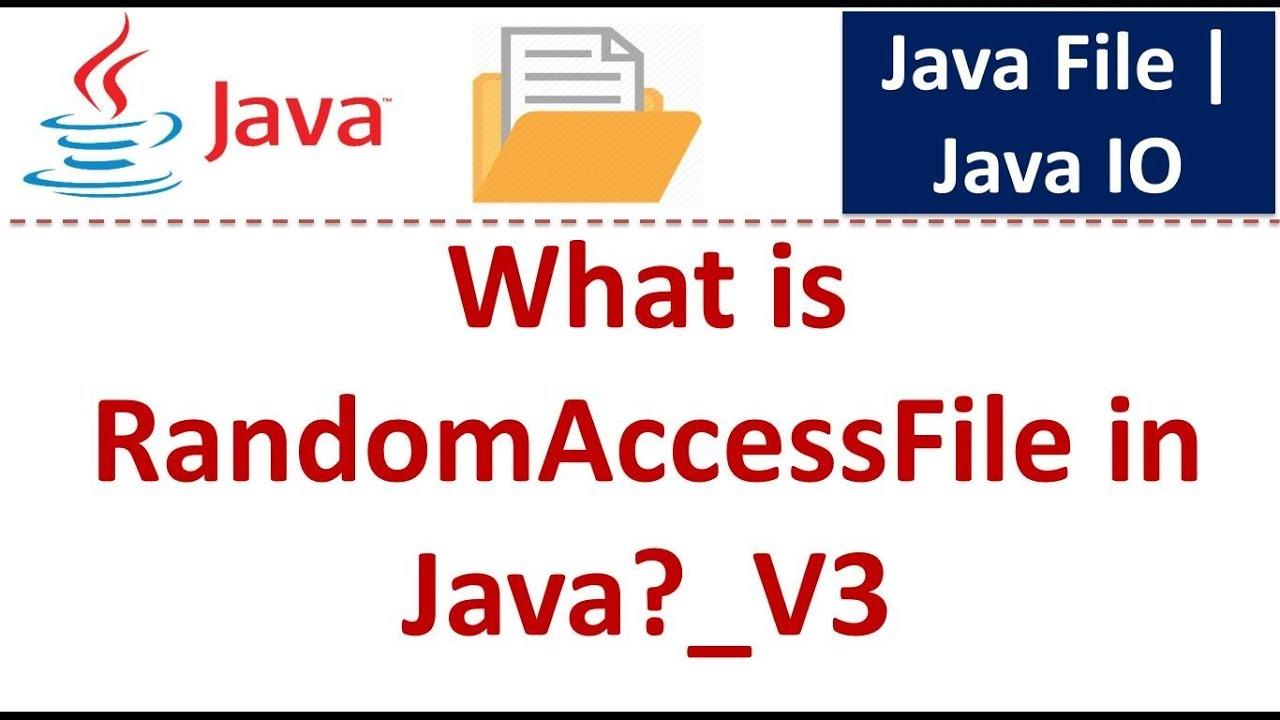 Java tutorial java io java randomaccessfile v3 youtube java tutorial java io java randomaccessfile v3 baditri Images