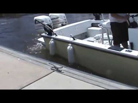 Easy way to dock your boat using Quick Boat Fender - used on a boat May 21 2013