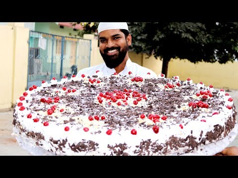 Black Forest Cake Recipe | Without Oven |25 Kgs Eggless Baking without Oven |Nawab's Kitchen