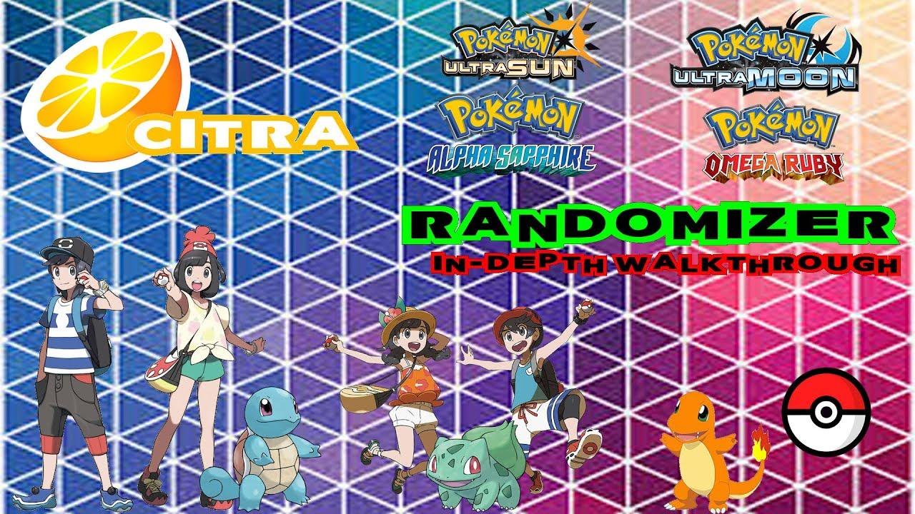 How To Randomize Pokemon Ultra Sun Ultra Moon S M OR AS FULL In-Depth  Walk-through (CE)