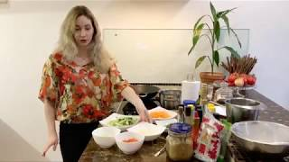 Как приготовить вкусно блюдо из рисовой лапши Фунчозы🍜🍲