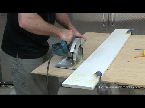 How To Make A Straight Cut Using A Circular Saw
