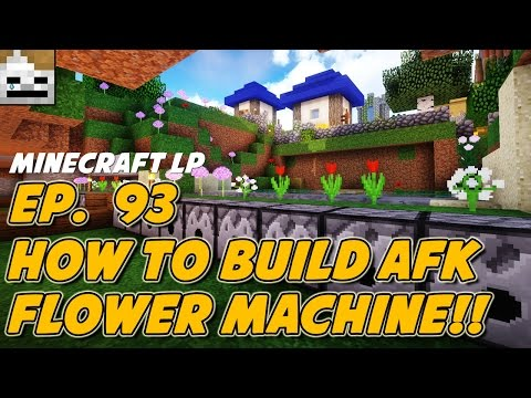Let's Play Minecraft Episode 93: How To Build An AFK Flower Machine!!! (Vanilla Amplified Survival)