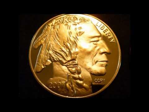 1 Troy Ounce 24k .999 Fine Gold Plated $50 Buffalo Replica Coin