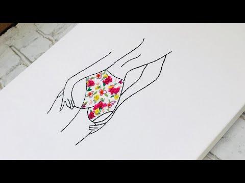 Арт вышивка современная вышивка необычная стильная вышивка