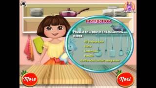 NEW Мультик онлайн для девочек—Даша готовит томатный пирог—Игры для детей