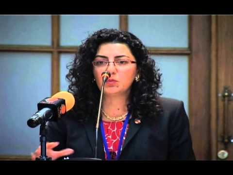 Kate Nahapetian discusses reparations & restitution at 2013 Pan-Armenian Lawyers Conference