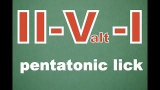 modern jazz lick  II V I  based on pentatonics(ENG/ESP sub) (pentatonic pattern)Jazz Lessons