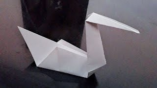 How to make an easy & quick paper swan for kids ll Origami paper swan ll Paper craft