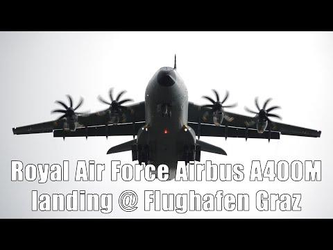 Royal Air Force A400M Atlas Overhead Landing @ Flughafen Graz | ZM405