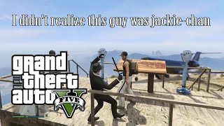Grand Theft Auto V: Game Fails & Jackie Chan!