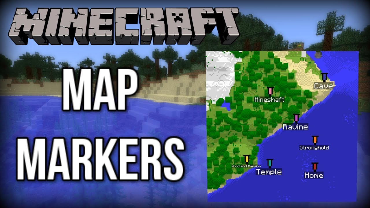 Minecraft How To Create Waypoints Map Markers Update Aquatic